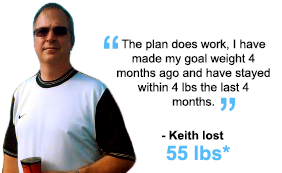 Keith lost 55 lbs!