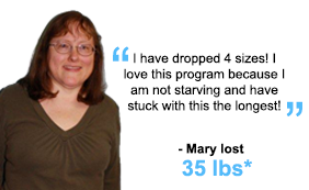 Mary lost 35 lbs!