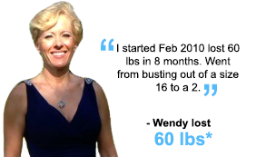 Wendy lost 60 lbs!