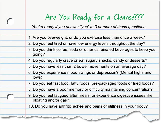 Are You Ready for a Cleanse???