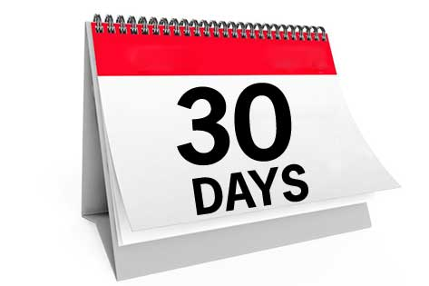 30 days from date
