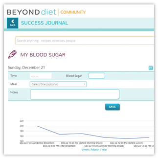 Beyond Blood Sugar Success Journal